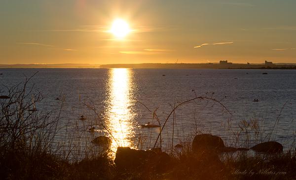 Ljuva sol - vacker solnedgång över havet
